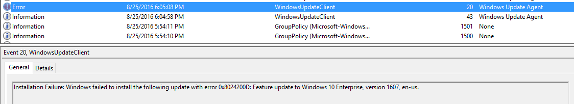 Upgrade Challenges Using SCCM & WSUS to get from 1511 to 1607 | OMG